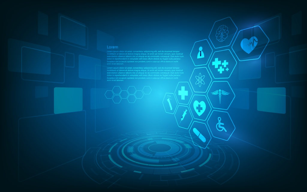 Hud Interface Virtual Hologram Future System Health Care Innovation Concept Background