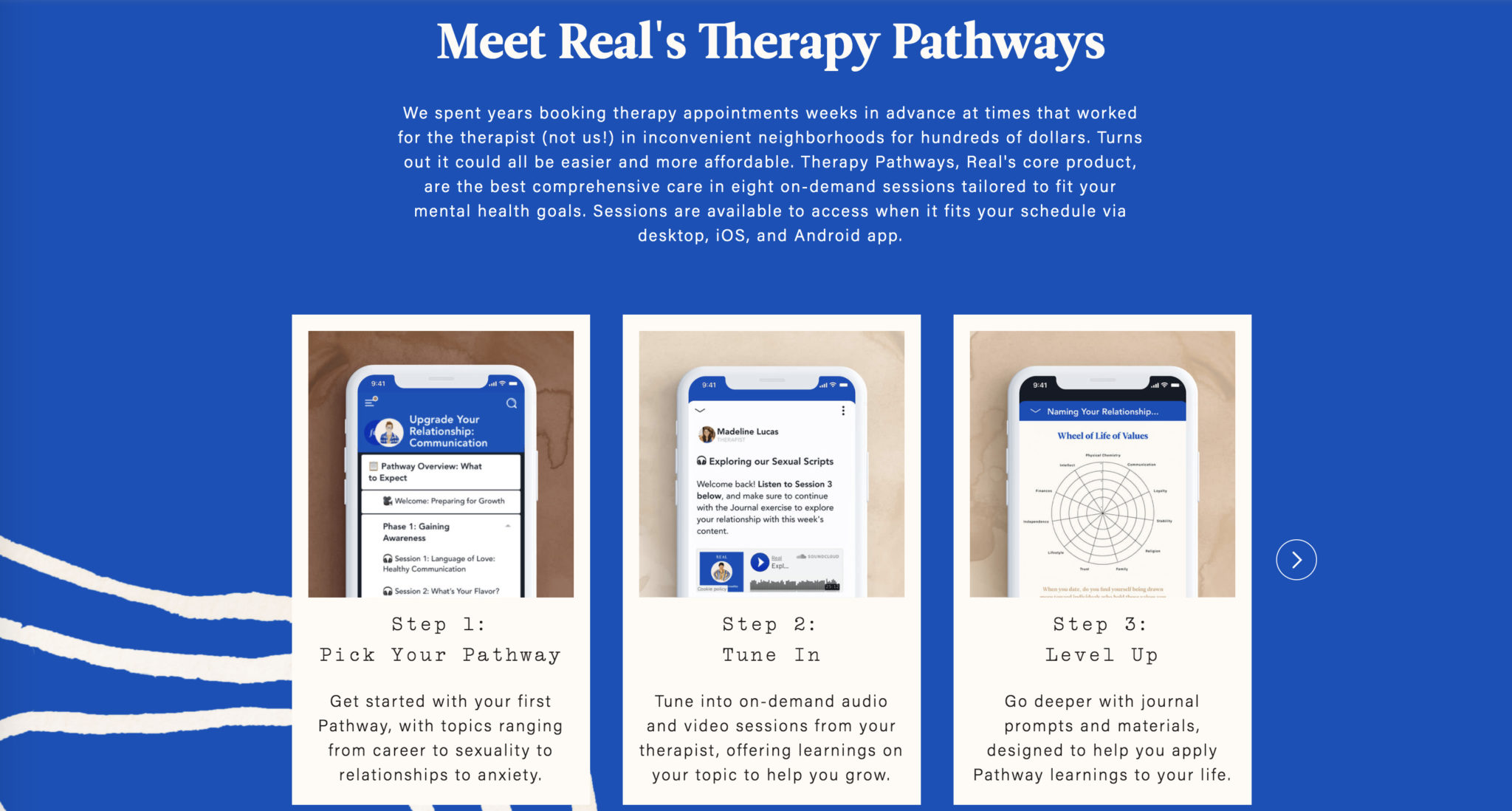 Real Therapy platforms