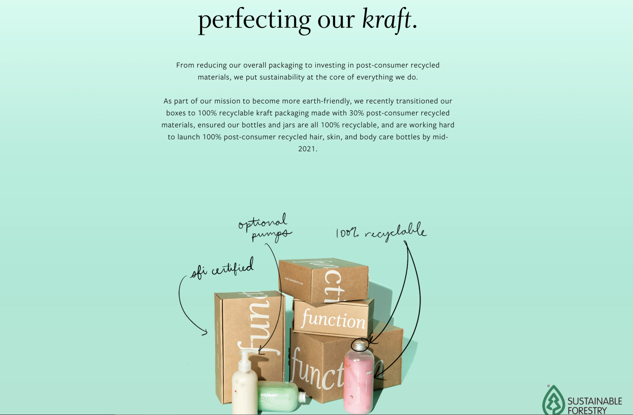 functionofbeauty sustainable practices